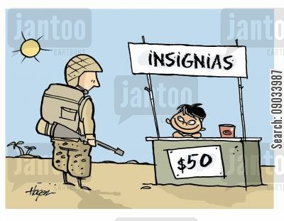 occupations cartoon humor: Insignias $50