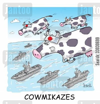 suicide bomber cartoon humor: Kamikaze Colour