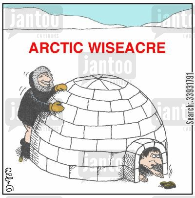 alaskan cartoon humor: Arctic Wisearse,