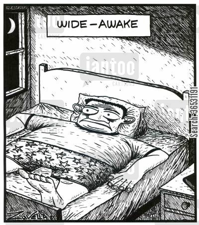awake cartoon humor: Wide-awake.