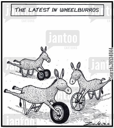 mule cartoon humor: The Latest in Wheelburros