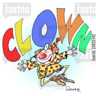 funny cartoon humor: Clown