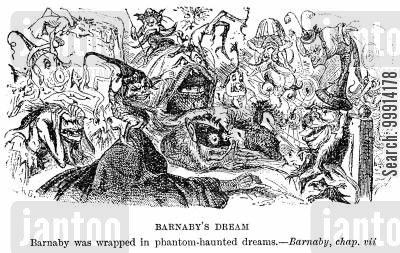 grotesque cartoon humor: Barnaby's dream
