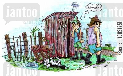 bog cartoon humor: 'Please leave the toilet how you would wish to find it...!'