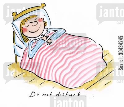napper cartoon humor: Do not disturb...