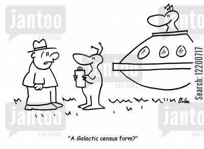 censuses cartoon humor: 'A Galactic census form?'