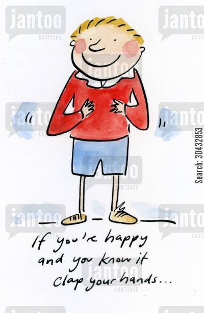 happy and you know it cartoon humor: If you're happy and you know it...