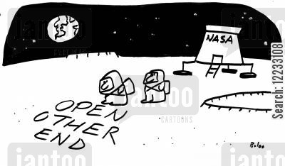 rocekts cartoon humor: Nasa - Open Other End.