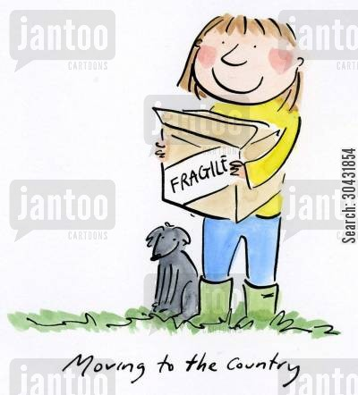 rat race cartoon humor: Moving to the country.