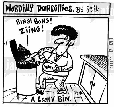 deranged cartoon humor: A Loony Bin