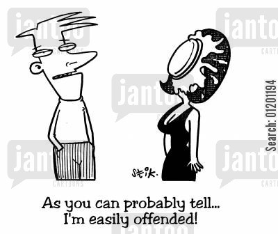 splat cartoon humor: As you can probably tell, I'm easily offended
