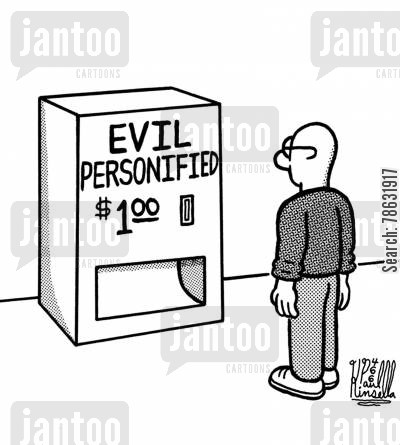sins cartoon humor: Evil Personified $1.00
