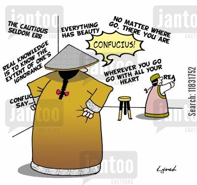 philosphers cartoon humor: Confucius.