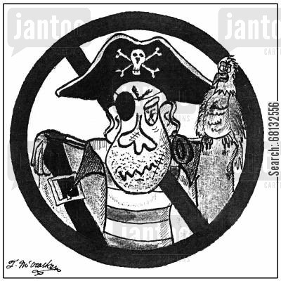 banned cartoon humor: Pirates Not Allowed