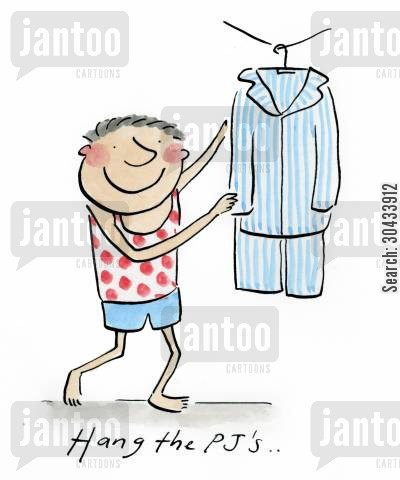 pj cartoon humor: Hang the PJ's