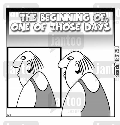 one of those days cartoon humor: The beginning of one of those days.