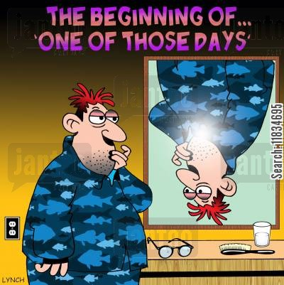 strange visions cartoon humor: The beginning of. . . one of those days.