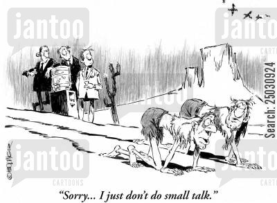 crawling cartoon humor: Desert crawlers passing water station. 'Sorry...I just don't do small talk.'