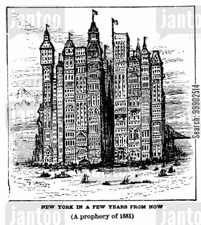 skyscraper cartoon humor: A Vision of New York's Future
