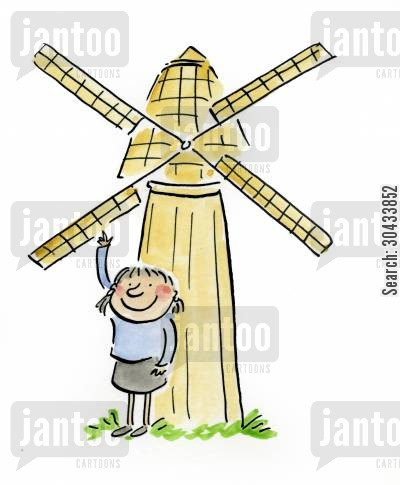 grain cartoon humor: Windmill