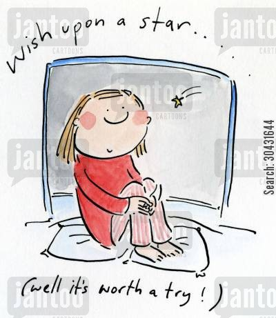 daydreamer cartoon humor: Wish upon a star (well it's worth a try).