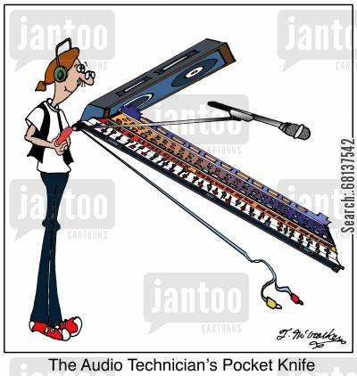 sound technician cartoon humor: An Audio Technician's Pocket Knife