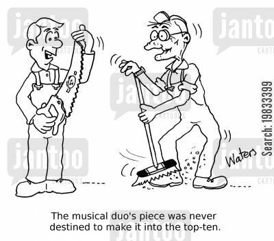 top ten cartoon humor: The musical duo's piece was never destined to make it into the top-ten.