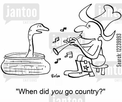 faqir cartoon humor: 'When did YOU go country?'