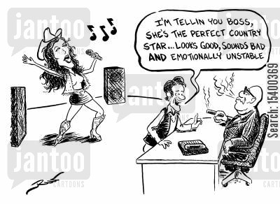 country singers cartoon humor: 'The perfect country star...'