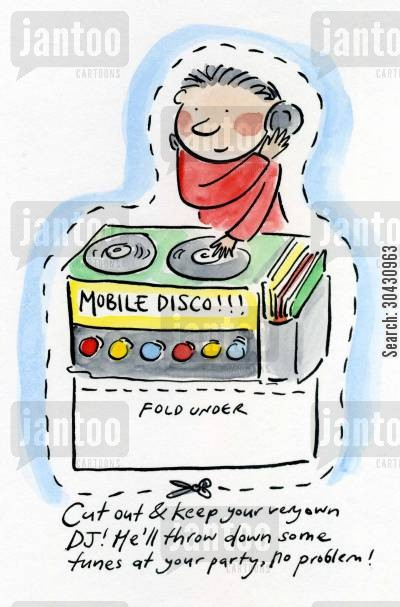 dic jockeys cartoon humor: Cut out and keep your own DJ.