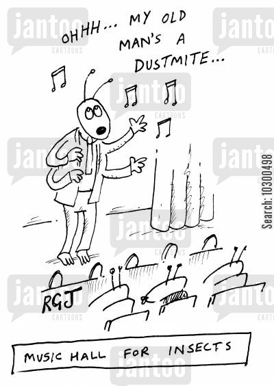 dustmite cartoon humor: 'Music hall for insects'