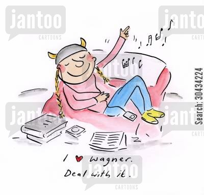 love stories cartoon humor: I love Wagner, Deal with it.