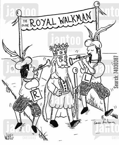 ipod cartoon humor: Ye Olde Royal Walkman