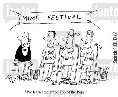 entertainment show cartoon humor: We learnt the art on Top of the Pops.