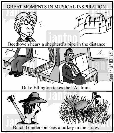 beethoven cartoon humor: Great Moments in Musical Inspiration