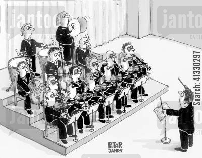 conductors cartoon humor: Orchestra.
