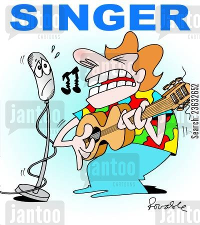 talent shows cartoon humor: Singer.