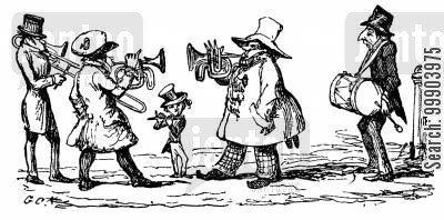 street music cartoon humor: Assorted Musicians