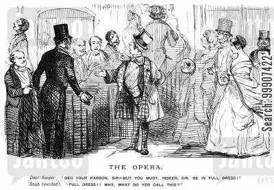 formal wear cartoon humor: The Opera.