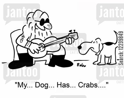 tuning cartoon humor: 'My... Dog...Has... Crabs....'