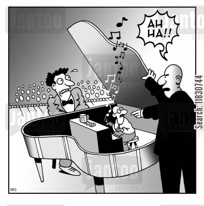 concert pianists cartoon humor: Ah Ha!