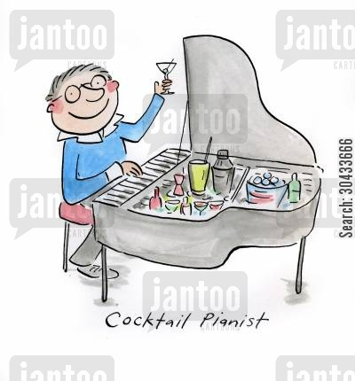 sinatra cartoon humor: Cocktail Pianist