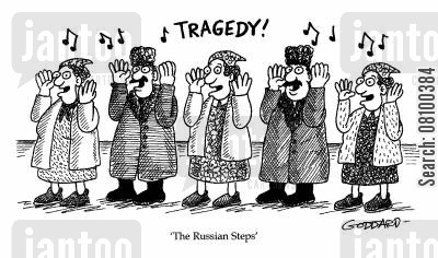 popular music cartoon humor: The Russian Steps