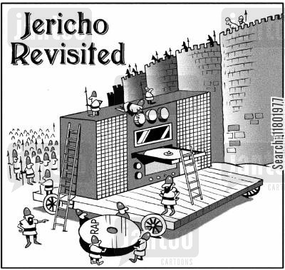 rapping cartoon humor: Jericho Revisited.