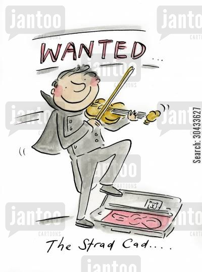 beare cartoon humor: WANTED The Strad Cad