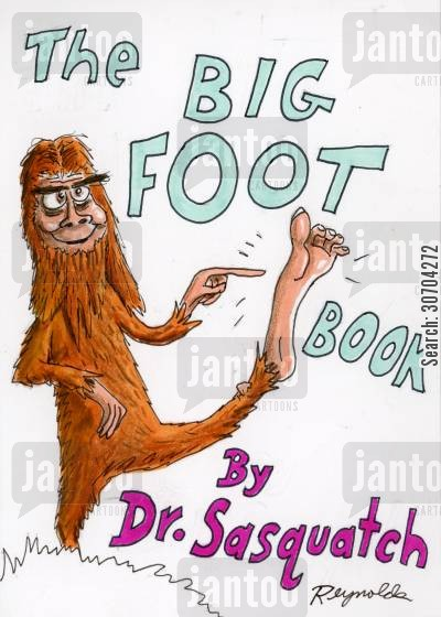 childrens book cartoon humor: The Big Foot Book.
