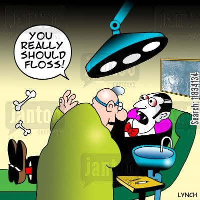 mouth wash cartoon humor: 'You really should Floss.'