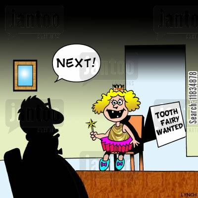 audition cartoon humor: Tooth fairy wanted: 'Next!'
