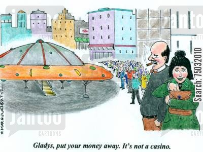 pocketbook cartoon humor: 'Gladys, put your money away. It's not a casino.'