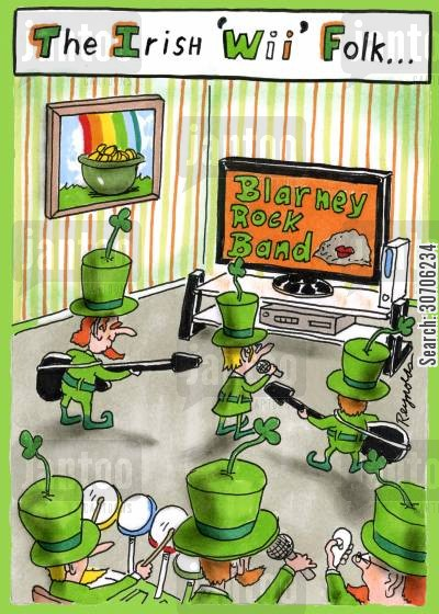 mythic cartoon humor: 'The Irish 'Wii' Folk...'
